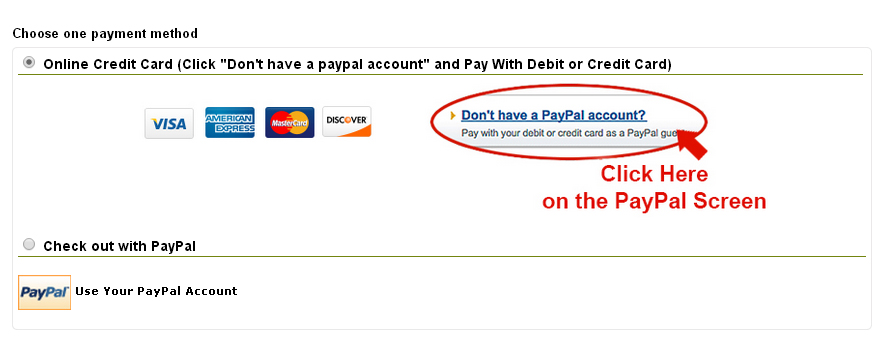 paypal and cc