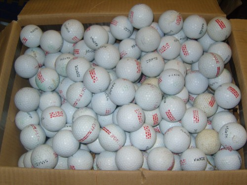 used floating golf balls